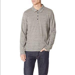 Billy Reid Striped Long Sleeve Polo